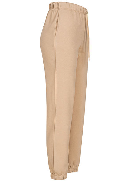 ONLY Damen NOOS Sweat Pants Jogginghose 2-Pockets Tunnelzug humus beige
