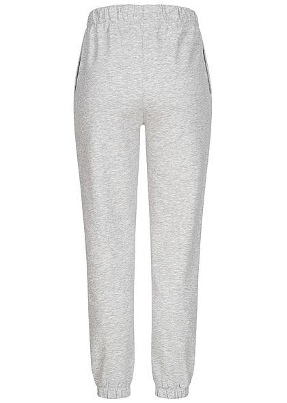 ONLY Damen NOOS Sweat Pants Jogginghose 2-Pockets Tunnelzug hell grau melange