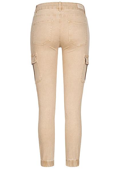 ONLY Damen NOOS Ankle Cargo Jeans 6-Pockets Regular Waist humus beige denim