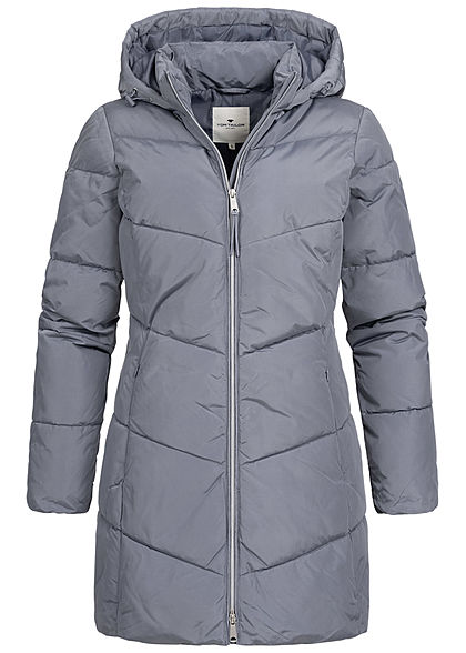 Tom Tailor Damen Winter Mantel Steppjacke Kapuze 2-Pockets dove grau - Art.-Nr.: 20110325