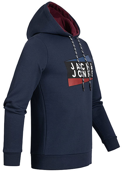 Jack and Jones Herren NOOS Sweat Hoodie Kapuze Logo Print blazer navy blau