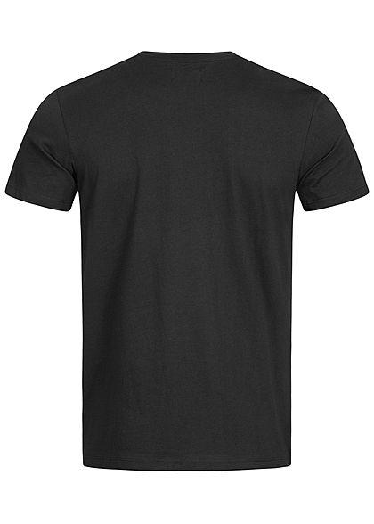 Jack and Jones Herren T-Shirt Logo Print schwarz weiss