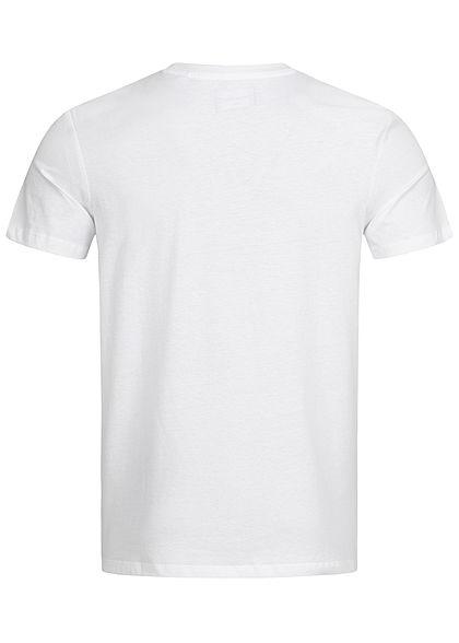 Jack and Jones Herren T-Shirt Logo Print weiss rot