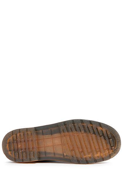 Seventyseven Lifestyle Damen Schuh Workerboots Velouroptik Schnürstiefel Zipper schwarz