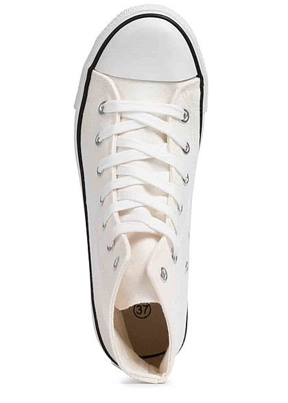Seventyseven Lifestyle Damen Schuh High Canvas Sneaker weiss