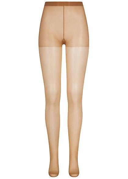 Seventyseven Lifestyle Damen Basic Strumpfhose 20 Denier Gummibund natural
