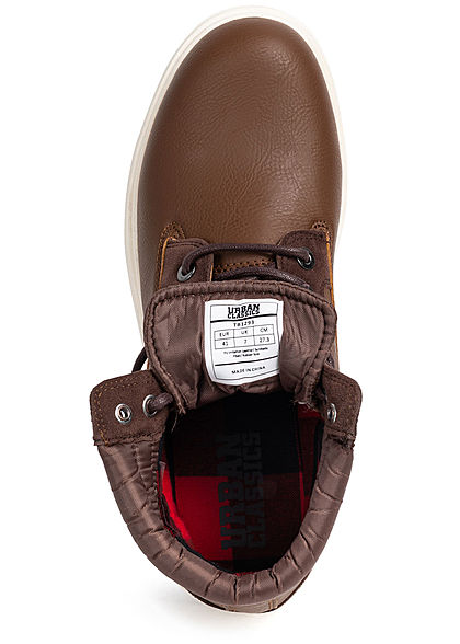 Urban Classics Herren Schuh Winter Worker Boots 2-Tone braun dunkel braun