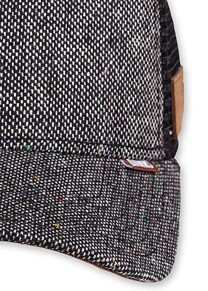 Djinns Herren Trucker Snapback Cap Mesh-Detail hinten Punkte Muster schwarz