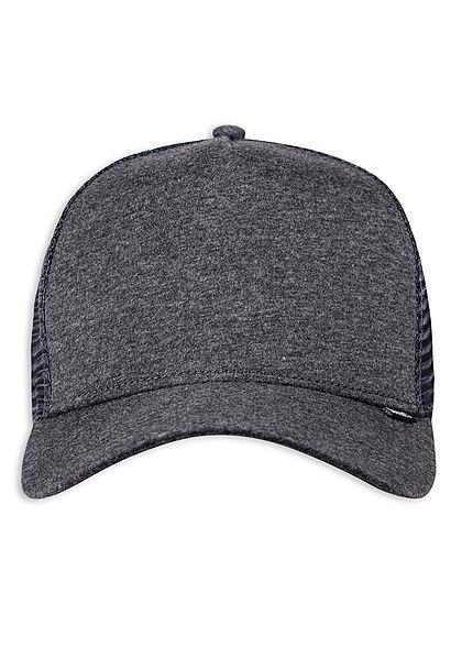 Djinns Herren Trucker Snapback Cap Mesh-Detail hinten charcoal dunkel grau