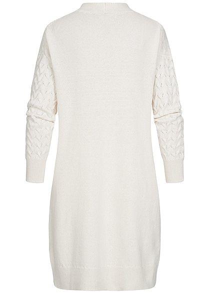 ONLY Damen Longform Struktur Strickcardigan Zopf Muster 2-Pockets pumice stone beige