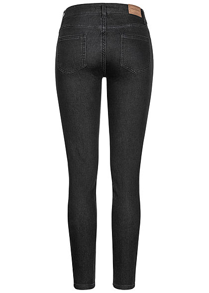 Eight2Nine Damen Skinny Jeans Hose 5-Pockets schwarz denim