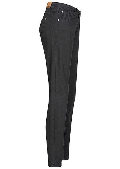 Eight2Nine Damen Skinny Jeans Hose 5-Pockets Regular Waist schwarz denim