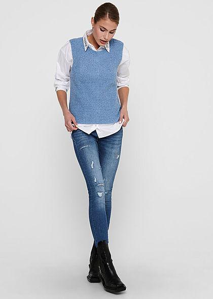 JDY by ONLY Damen Strick Pullunder provence blau