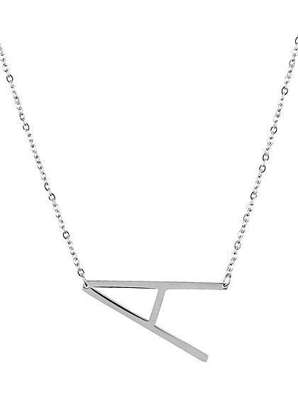 Hailys Damen Fashion Halskette mit Buchstaben Anhänger A silber
