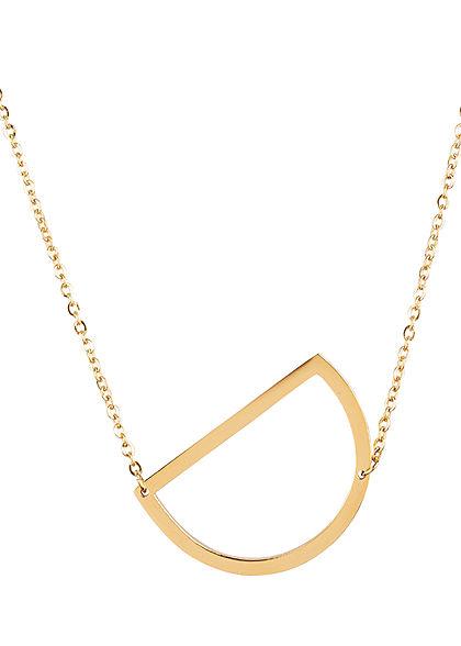 Hailys Damen Fashion Halskette mit Buchstaben Anhänger D gold