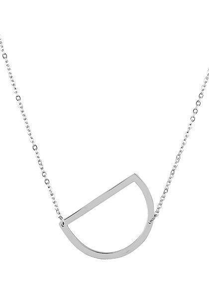 Hailys Damen Fashion Halskette mit Buchstaben Anhänger D silber