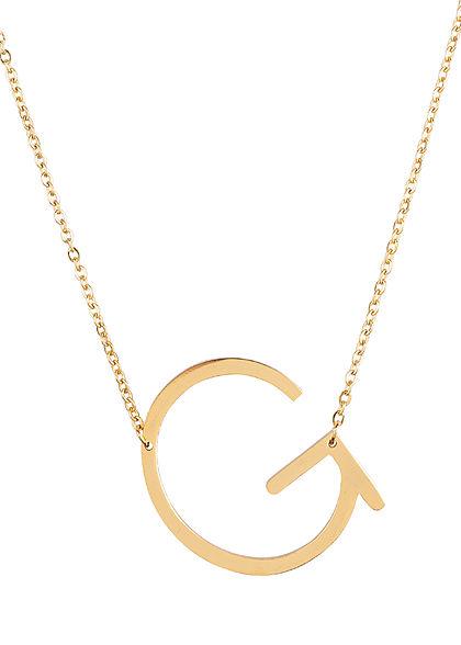 Hailys Damen Fashion Halskette mit Buchstaben Anhänger G gold