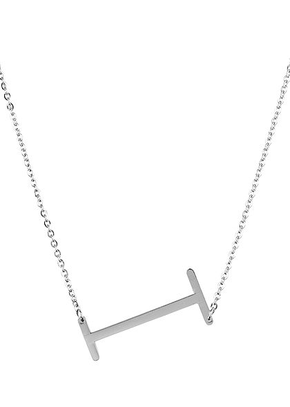 Hailys Damen Fashion Halskette mit Buchstaben Anhänger I silber