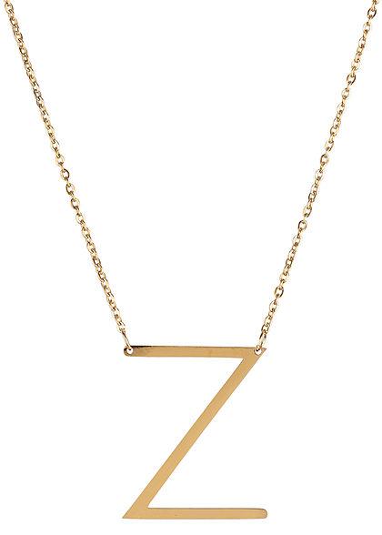 Hailys Damen Fashion Halskette mit Buchstaben Anhänger Z gold
