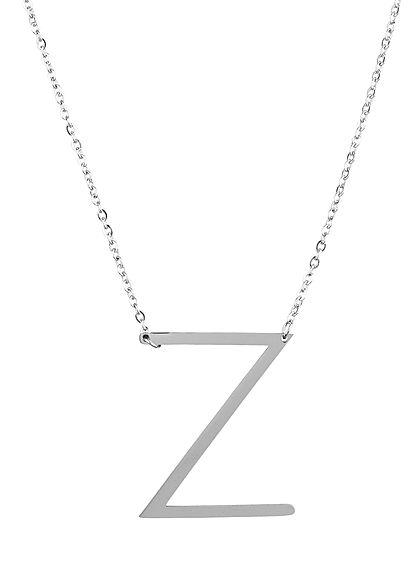 Hailys Damen Fashion Halskette mit Buchstaben Anhänger Z silber