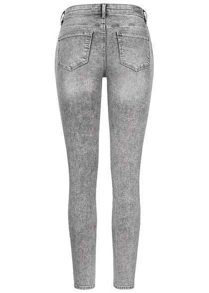 ONLY Damen NOOS Skinny Jeans Hose 5-Pockets medium grau denim