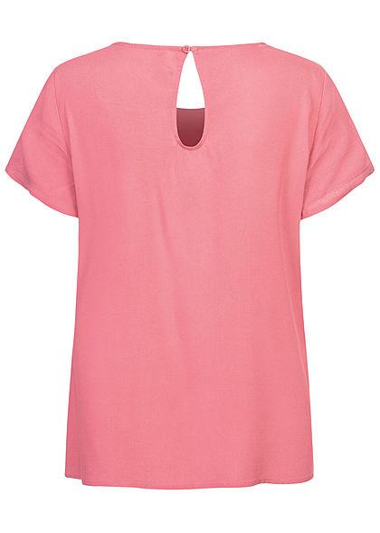 ONLY Damen NOOS Solid Blusen Shirt baroque dunkel rose