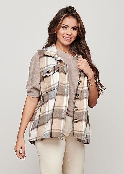 JDY by ONLY Damen NOOS 1/2 Fledermausarm Pullover simply taupe beige