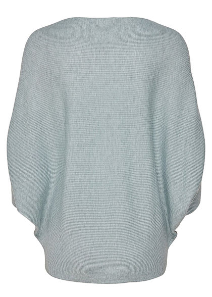 JDY by ONLY Damen NOOS 1/2 Fledermausarm Pullover nebel blau melange