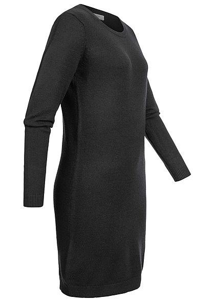 JDY by ONLY Damen NOOS Langarm Viskose Strickkleid schwarz