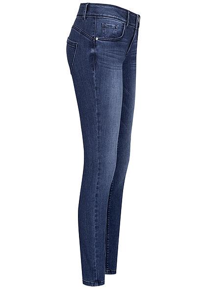 Tom Tailor Damen Skinny Jeans Hose 5-Pockets dark stone wash denim blau