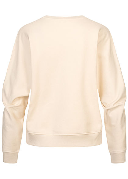 Tom Tailor Damen Colorblock Pullover Sweater soft creme beige rosa braun