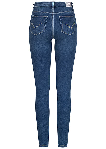 ONLY Damen Skinny Jeans Hose 5-Pockets dunkel blau denim