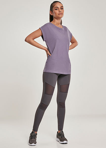 Urban Classics Damen Leggings Mesh Optik dunkelgrau