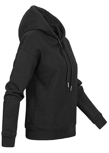 Urban Classics Damen Basic Hoodie mit Kapuze schwarz