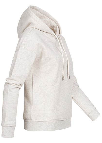 Urban Classics Damen Basic Hoodie mit Kapuze hell grau