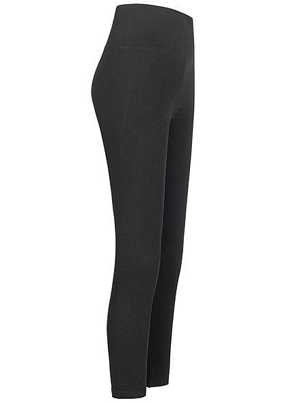 Urban Classics Damen Basic High-Waist Leggings schwarz