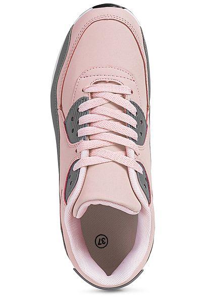 Seventyseven Lifestyle Damen Schuh 2-Tone Sneaker pink rosa grau