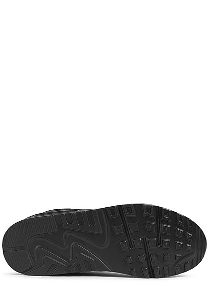 Seventyseven Lifestyle Damen Schuh 2-Tone Sneaker dunkel grau schwarz