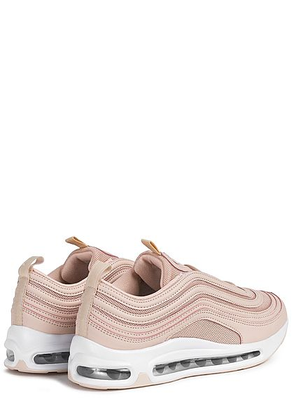Seventyseven Lifestyle Damen Schuh Materialmix Sneaker mit Meshdetails nude rosa