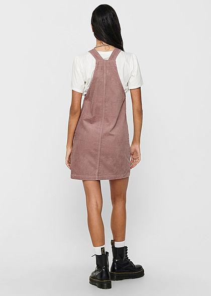 JDY by ONLY Damen Mini Cord Jeans Kleid mit Zipper vone 2-Pockets woodrose rosa
