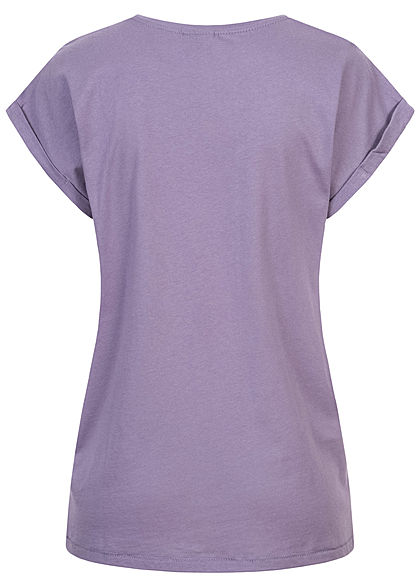 Urban Classics Damen T-Shirt mit breiten Schultern dusty lila