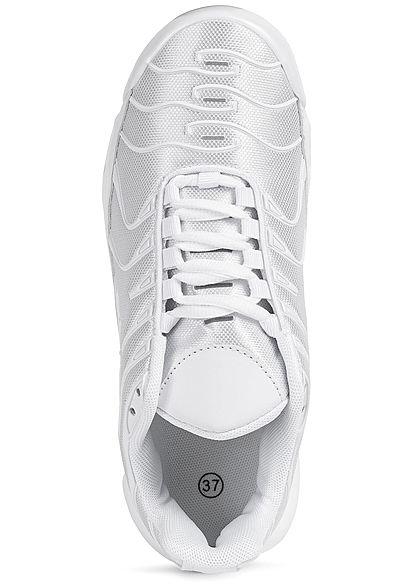 Seventyseven Lifestyle Damen Schuh Sneaker zum schnüren weiss silber