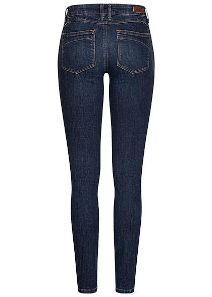 Tom Tailor Damen Extra Skinny Jeans Hose 5-Pockets Low Waist dark stone wash denim