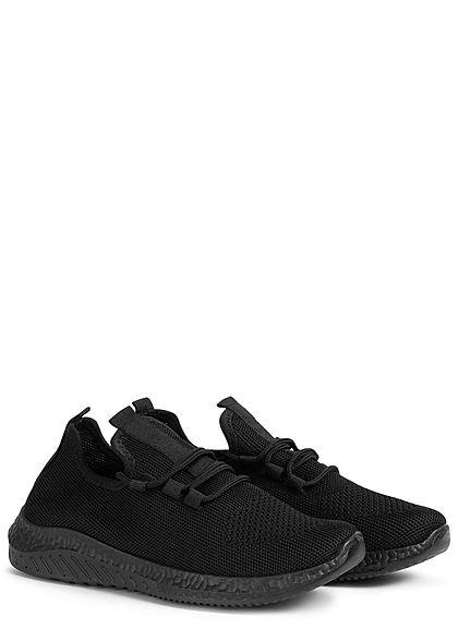 Seventyseven Lifestyle Damen Schuh Running Sneaker Struktursohle schwarz