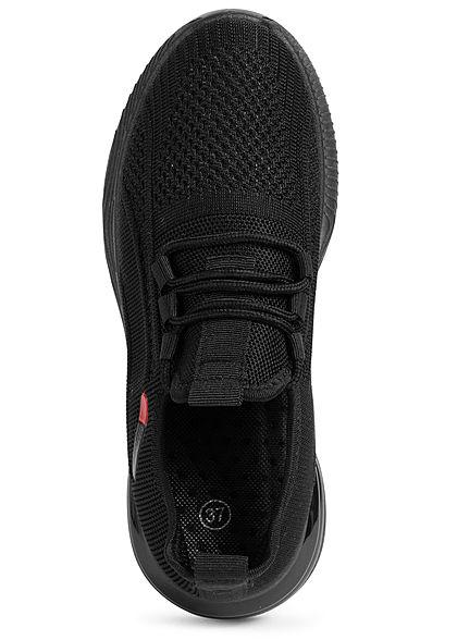 Seventyseven Lifestyle Damen Schuh Running Sneaker zum schnüren schwarz