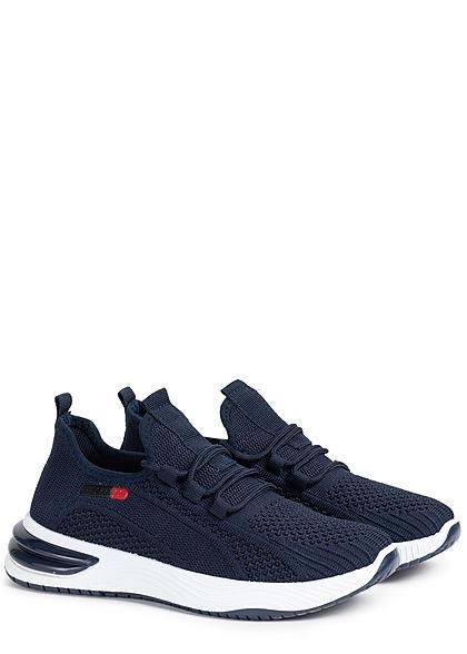 Seventyseven Lifestyle Damen Schuh Running Sneaker zum schnüren navy blau