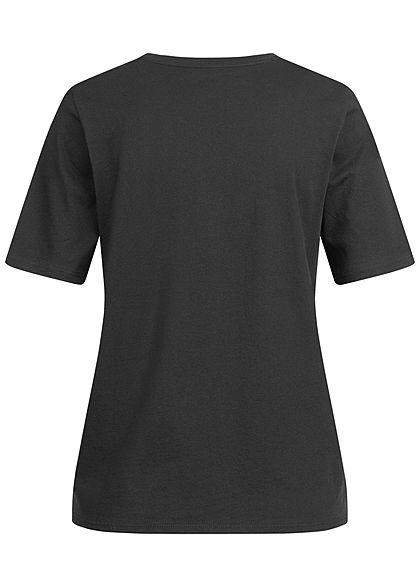 ONLY Damen NOOS Solid T-Shirt Regular Fit schwarz