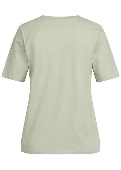 ONLY Damen NOOS Solid T-Shirt Regular Fit desert sage grün