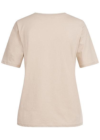 ONLY Damen NOOS Solid T-Shirt Regular Fit silver beige