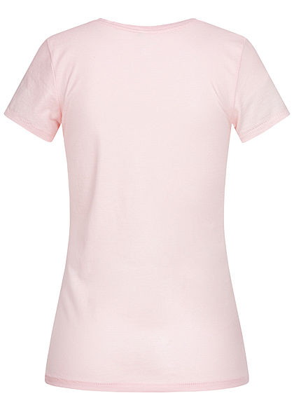 ONLY Damen T-Shirt Slim Fit Love is all you need Print ballerina rosa